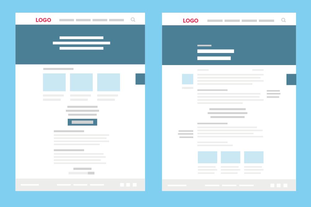der aufbau einer zeitgemen website - Konzept Erstellen Muster